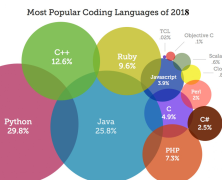 Most popular programming languages